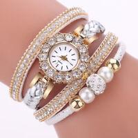 Fashion Women's Watches Vintage Weave Wrap Quartz Wrist Watch Bracelet Watches