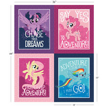 My Little Pony Characters Camelot 100% cotton fabric by the Fat Quarter Panel