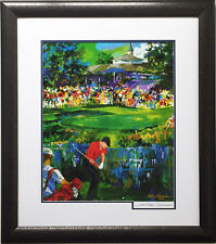 "LeRoy Neiman ""VALHALLA GOLF"" HAND SIGNED Lithograph CUSTOM FRAMED Tiger Woods"