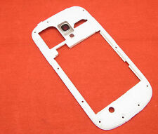Samsung Galaxy S3 Mini i8190 Mittelrahmen Gehäuse Rahmen Cover Kamera Glas Weiß