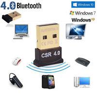 Bluetooth 4.0 USB 2.0 CSR 4.0 Dongle Adapter for PC LAPTOP WIN XP VISTA 7 8 10 ~