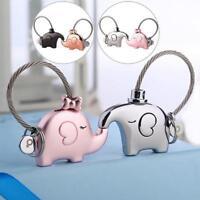 Elephant/Pig/Whale Pendant Keychain Fr Lovers Couple Key Ring Trinket Good Gift