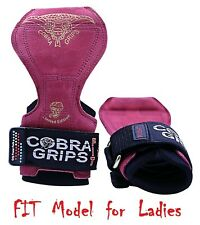 Cobra Grips FIT RED Leather Weight Lifting Straps Power Lifting Gloves New