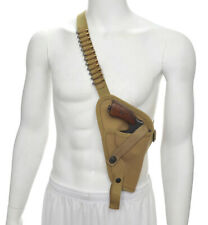 Us M3 Victory Revolver Pilots Canvas Shoulder Holster with Shell loops Khaki