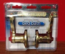 TruGuard Polished Brass Bed/Bath Door Leverset Privacy Locking
