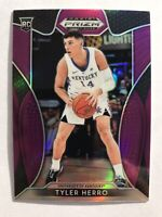 2019-20 Panini Prizm Tyler Herro Silver Purple Prizms Rookie Card Rc Miami Heat