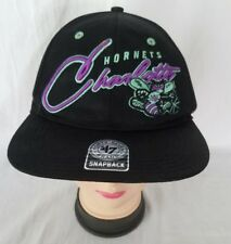 Charlotte Hornets 47 Brand Hardwood Classics Hornet Under Bill SnapBack Hat Cap