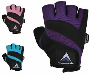 Aamron ® W1A GEL Weight Lifting Gloves Body Building Gym Cycling Training Womens