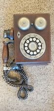 Vintage/Antique Western Electric Wooden Case Push Button Wall Telephone.