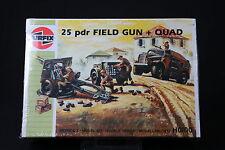 XL260 AIRFIX HO/OO 1/87 maquette voiture 01305 25 pdr Field Gun + Quad 1989 NB