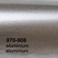 ( 17,09€/m ²) 0,5m m x 1,52m Oracal 970ra aluminio PLATA BRILLO 908 Película