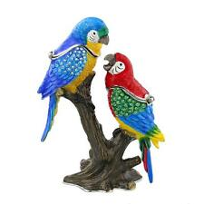 More details for 2 parrots on branch trinket box / ornament gift *new*