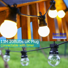 String LED Lights Bulb Timer Fairy Lamp Decor Wedding Garden Party Patio Camping