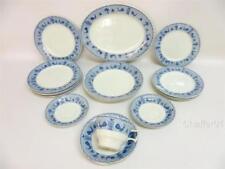 Earthenware 1920-1939 (Art Deco) Date Range Blue & White Transfer Ware Pottery