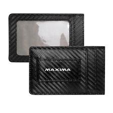 Nissan Maxima Slim Black Carbon Fiber RFID Blocking Card Holder Wallet