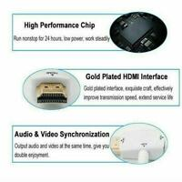 1080P HDMI Male to VGA Female Jack Video Cable Adapter Converter 3.5mm B5O0