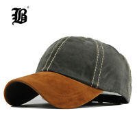 FLB® Hat Cap 100% Cotton Washed Casquette Baseball Men Hats Solid Cap Embroidery
