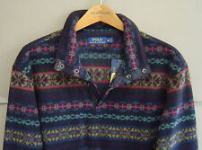 NWT $295 POLO RALPH LAUREN Mens XL FAIR ISLE FLEECE PULLOVER JACKET 0407208