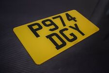 12 x 6 Rear American Import Road Legal Number Plates 100% MOT Compliant