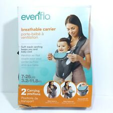 Evenflo Breathable Soft Breathable Baby Carrier Grey Chevron 7 - 26 Pounds Used