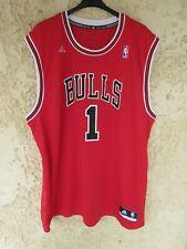 Maillot basket CHICAGO BULLS Derrick ROSE n°1 NBA shirt ADIDAS rouge XXL