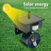 Animal Bird Repeller Solar Powered PIR Outdoor Cat Dog Fox Repellent Ultrasonic