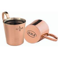 HMS Copper Brass 1/2 Gill Royal Navy Rum Mug Tot Measure