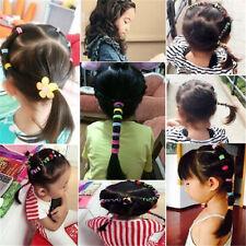Fashion 100pcs Elastic Rope Kids Hair Ties Ponytail Holder Head Band Hairbands