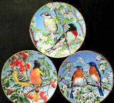 1994 Hamilton Wild Wings In Full Bloom Hanson Garden Song Bird Collector Plates