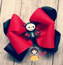 Bowtique red and black bow