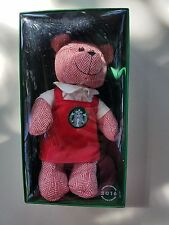 STARBUCKS 2016 LIMITED EDITION RED APRON HOLIDAY BEARISTA GIRL NEW IN BOX 122 ED