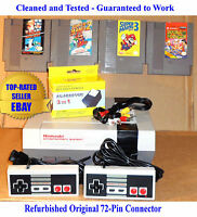 Nintendo NES Console Bundle + Super Mario Bros 1 2 3 & Double Dragon -Guaranteed