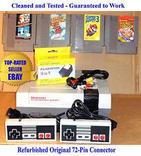 Nintendo NES Console Bundle + Super Mario Bros 1 2 3 & Double Dragon -Guaranteed