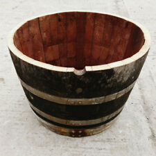 OAK HALF WINE BARREL PLANTER (GRADE C) PLANT TREE HERB BUCKET POT OUTDOOR GARDEN