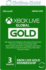 Xbox Live Gold Suscripción 3 Meses código Xbox One 360 Tarjeta Membresía Global