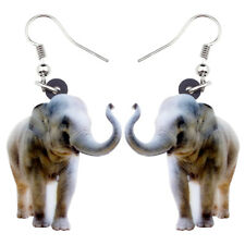 Acrylic Jungle Elephant Earrings Drop Dangle Animal Jewelry For women Gift Charm