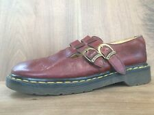 Dr. Martens 8065 VTG Made in England Red Double Buckle Mary Jane Shoes UK 7 US 9