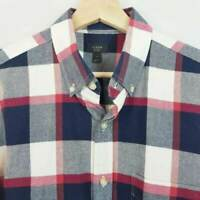 J.CREW Mens Size M Large Check Long Sleeve Oxford Shirt
