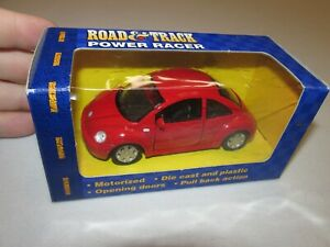 New!! Road & Track Power Racer * VW Beetle * Red * 1/43 Scale * FREE SHIPPING!!