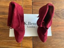 LK Bennett Red suede leather boots UK 5 38 boxed