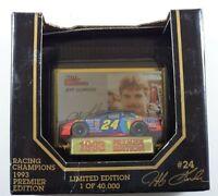 1993 RACING CHAMPIONS JEFF GORDON #24 PREMIER EDITION 1:64