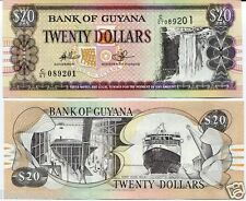 GUYANA 20 DOLLARS BANKNOTE for note coin collector L-16