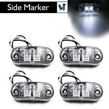 4X White LED Side Marker Light Clearance Lamp Car Truck Trailer Caravan 10V-30V