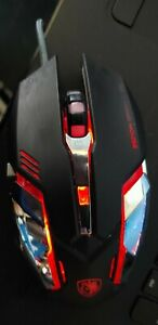 Sades RGB Gaming Mouse - Red/Purple/Pink/Blue - USED