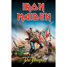 More details for official licensed - iron maiden - the trooper textile poster flag metal eddie