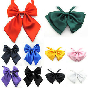 Women Formal Business Bow Tie Butterfly Cravat Silk Bowtie Wedding Solid Necktie