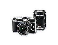 Olympus E-PL1 12.3MP Digital Camera - Black (Kit w/ 14-42mm and 40-150mm Lenses)