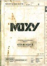 Moxy 6225B & 6227B Articulated Dumptruck Operators Manual