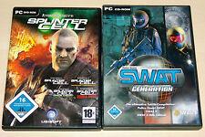 PC SPIELE SAMMLUNG - SPLINTER CELL & SWAT GENERATION - PANDORA CHAOS DOUBLE 2 3