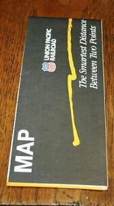UNION PACIFIC RAILROAD UPRR 1988 SYSTEM MAP mint condition!!!